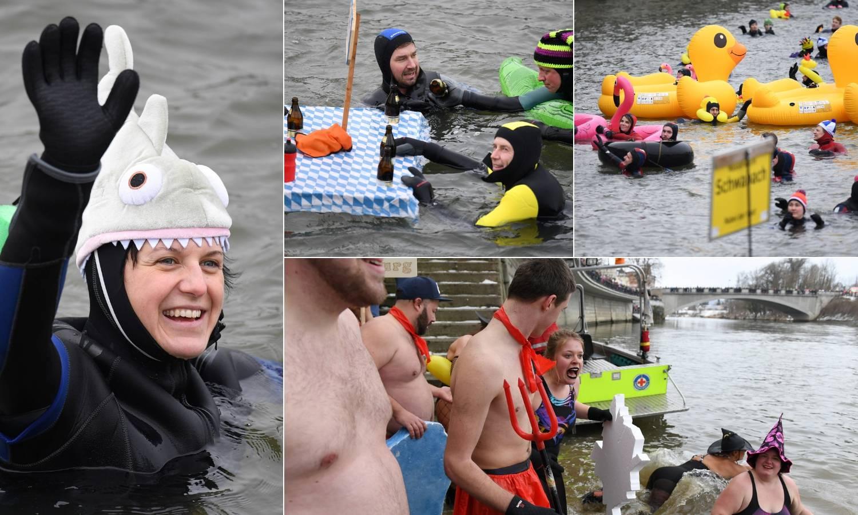Utrka u ledenom Dunavu: Neke su morali spašavati iz rijeke...