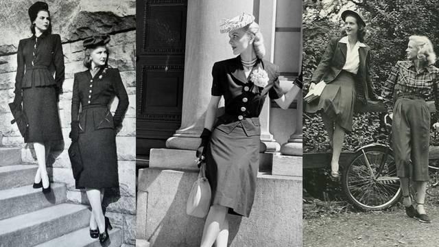 Damski i ženstveno: Predivan modni stil s kraja 40-ih godina