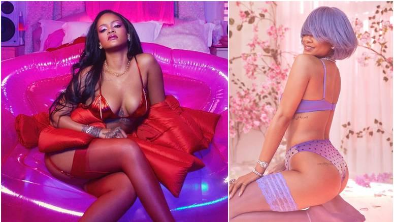 Rihanna se ponovno skinula: Pozirala s ljubičastom perikom