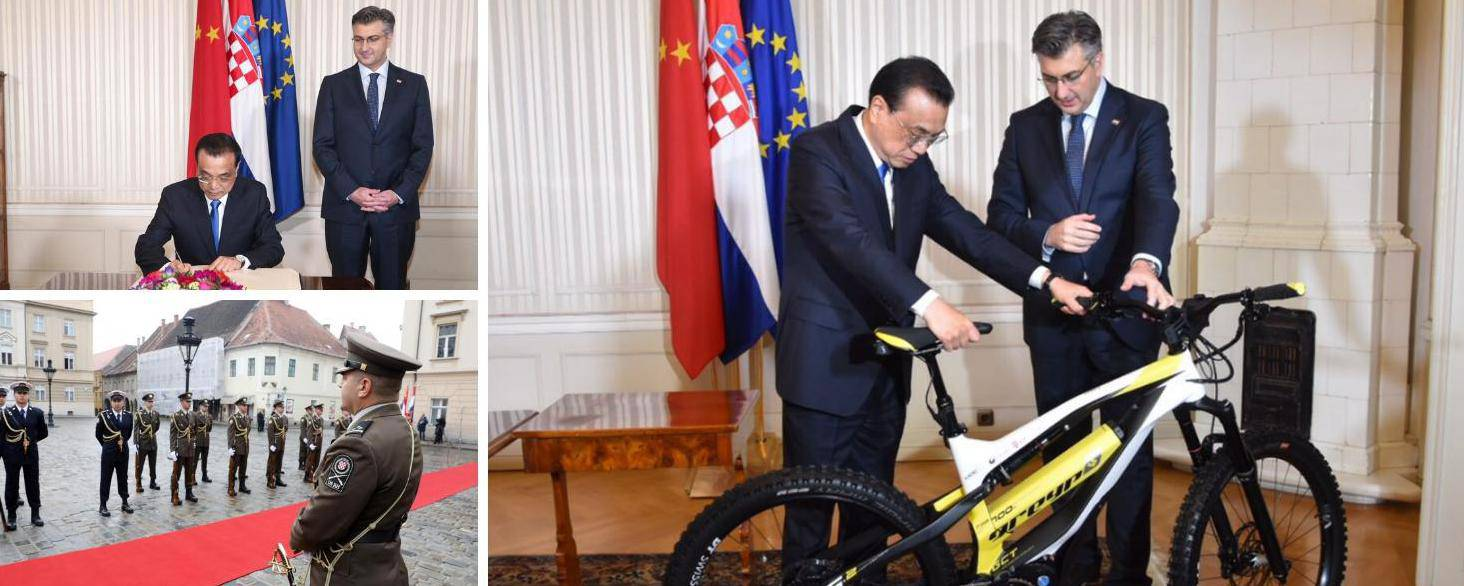 Plenković na dar dobio loptu, a on poklonio bicikl Mate Rimca
