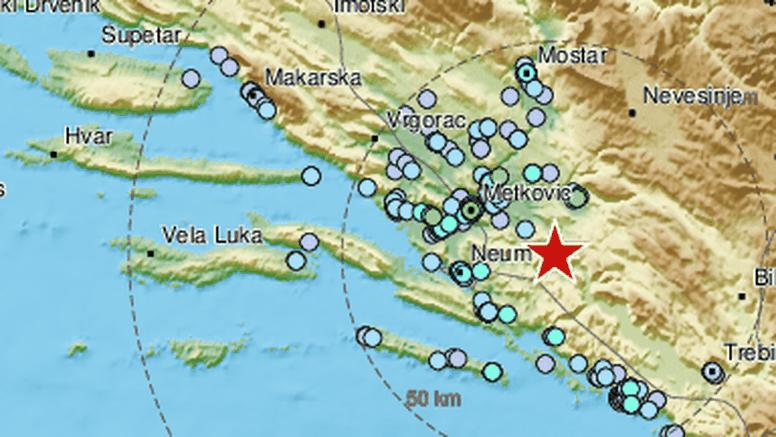 Potres jačine 3.6 zatresao jug Hrvatske: 'Ljuljalo se, čula se grmljavina, dobro se osjetio'