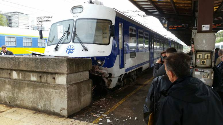 Šok u Zagrebu:  Vlak se zabio u beton na Glavnom kolodvoru
