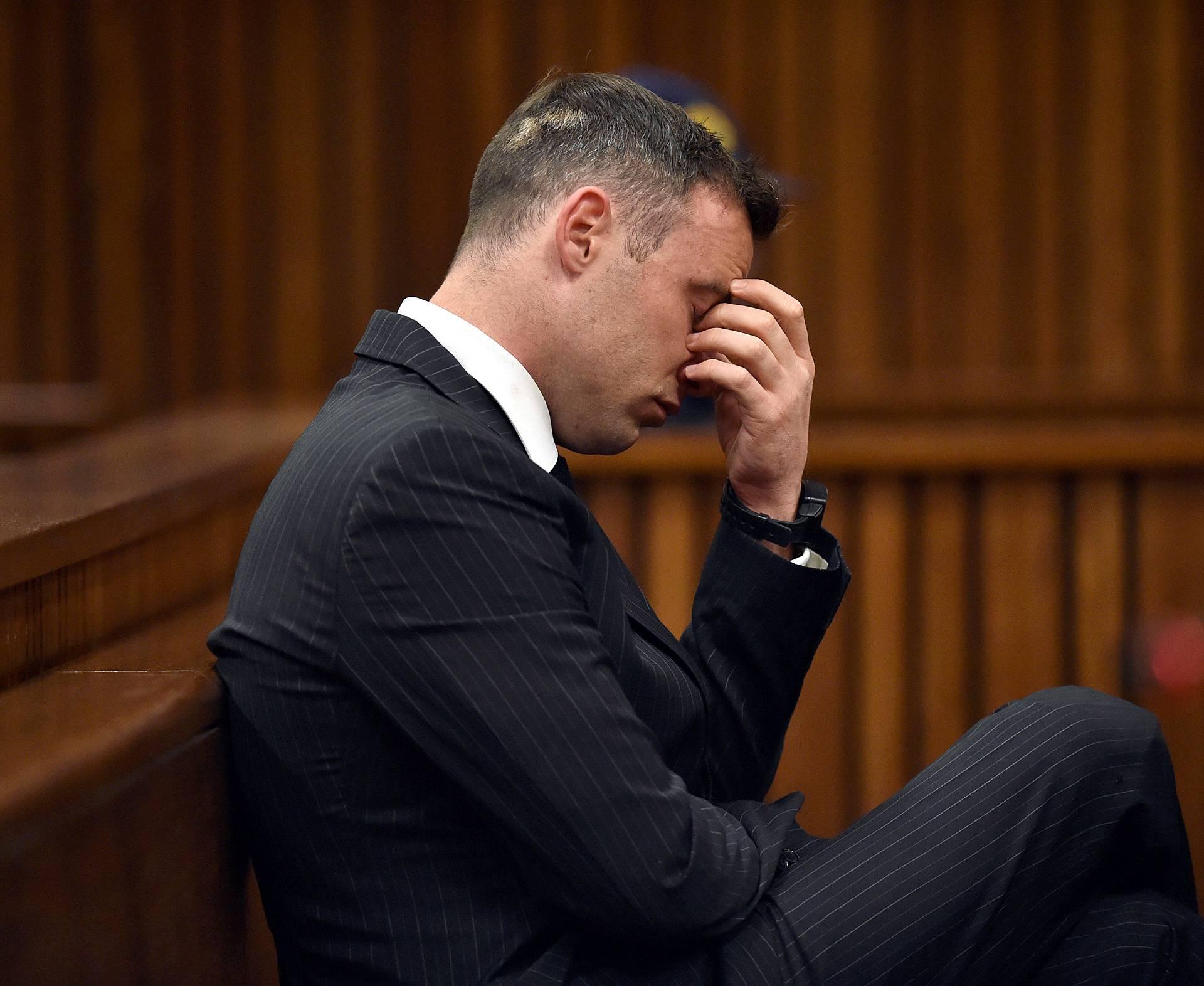 Former Paralympian Oscar Pistorius attends his sentencing for the murder of Reeva Steenkamp at the Pretoria High Court