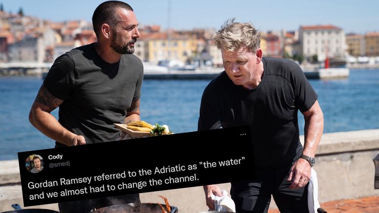 Ramsayja prozvali na Twitteru zbog riječi koja ljuti Dalmatince: 'Skoro sam promijenio program'