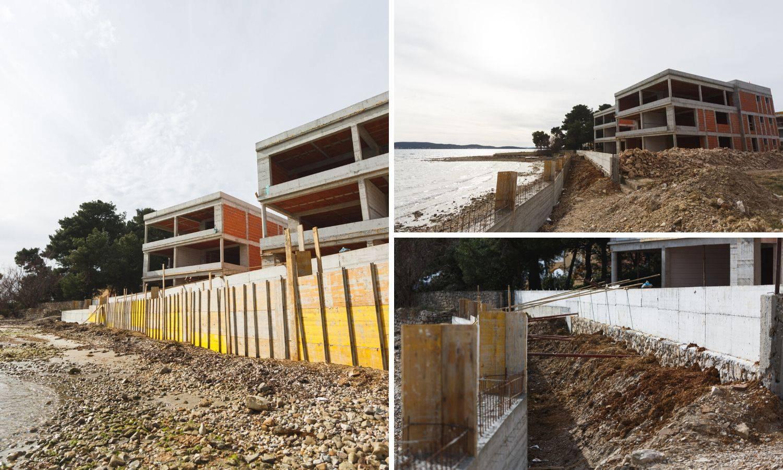 Betoniraju more u Sukošanu i grade apartmane za prodaju