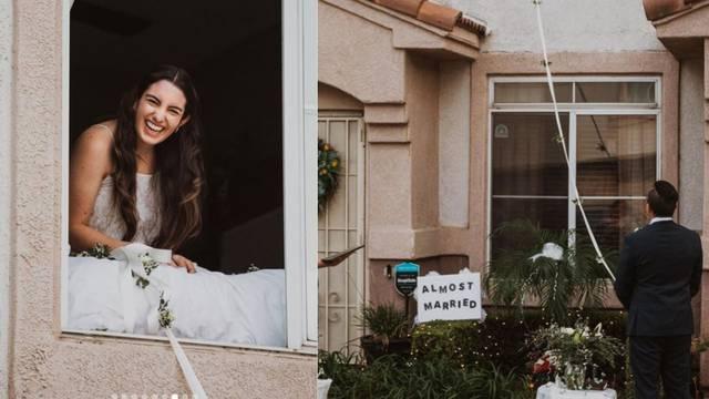 Vjenčanje u 2020.: Mladenka pozitivna na Covid-19 izrekla sudbonosno 'da' s prozora