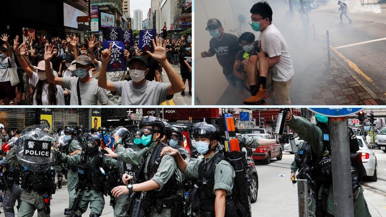 Hong Kong: Policija suzavcem rastjerala tisuće prosvjednika
