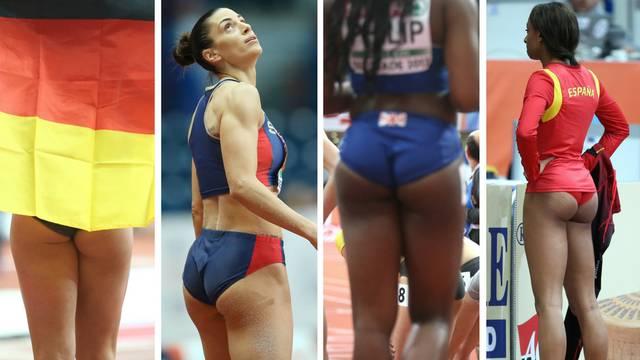 Lijepa pozadina atletskog Eura: Izazov, pokušaj skrenuti pogled