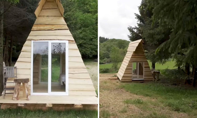 Izgradili kuću u tri i pol dana od okolnog drveća i to za 226 kuna
