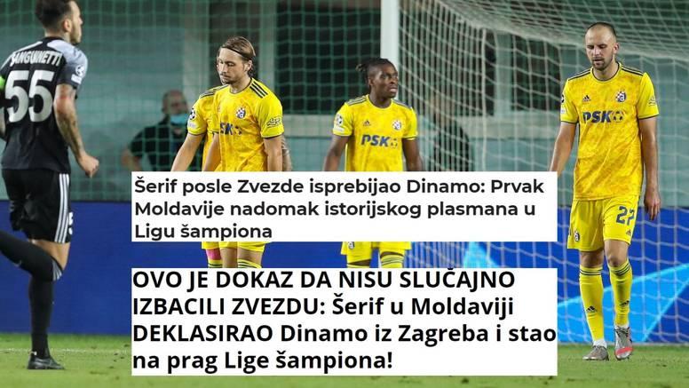 Srpski mediji likuju: I Dinamo je sada osjetio kako tuče Šerif...