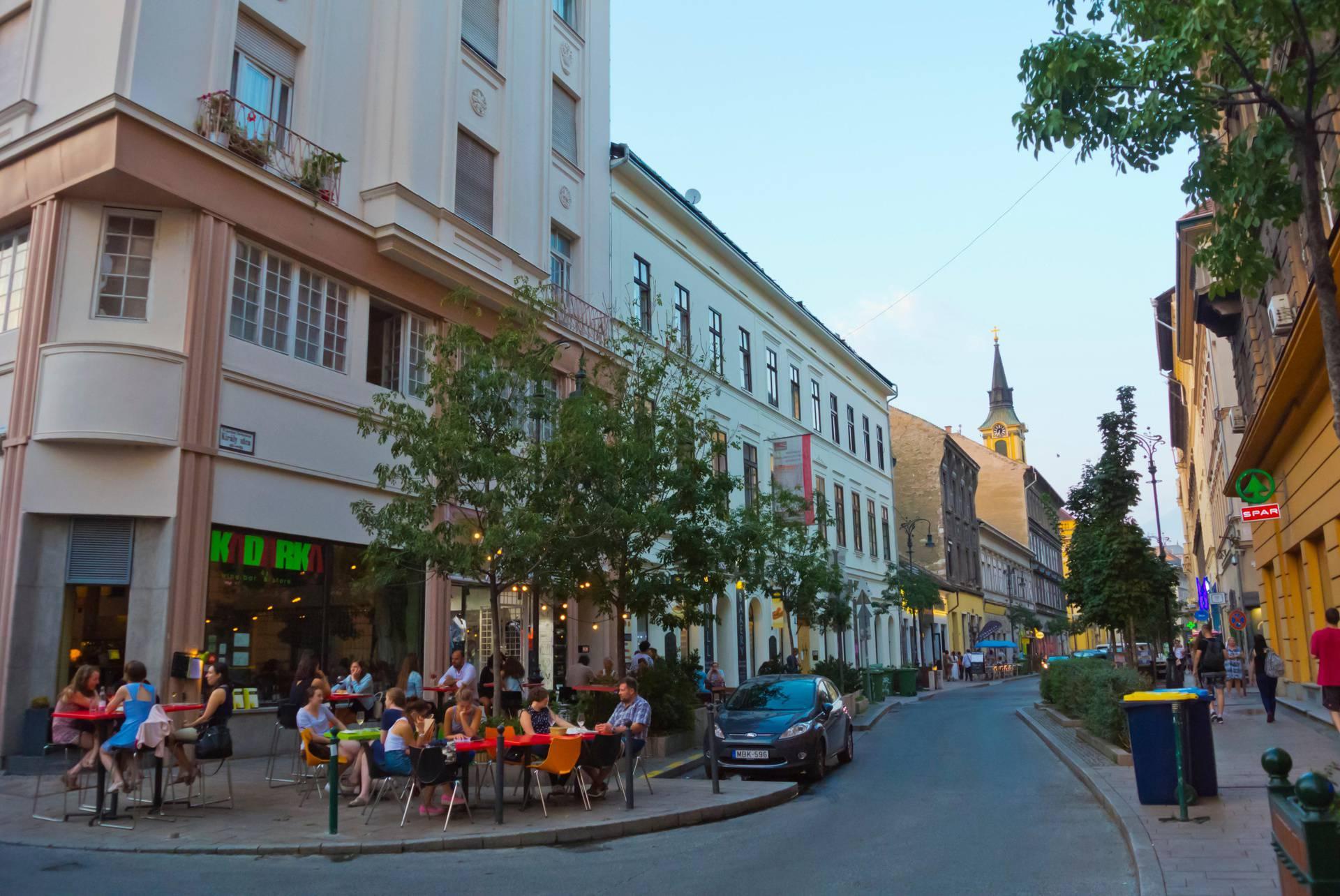 Kiraly utca, Erzsébetváros, Budapest, Hungary