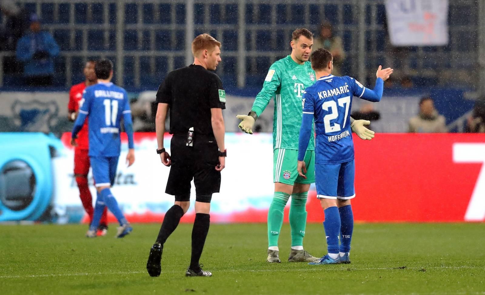 firo: 29.02.2020 Football, Soccer: 1. Bundesliga TSG Hoffenheim - FCB FC Bayern Munich Muenchen