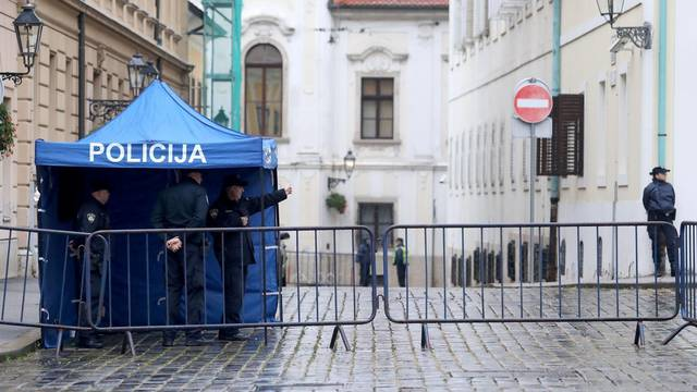 Zagreb: Nakon pokušaja ubojstva policajca pristup Markovom trgu je ograničen