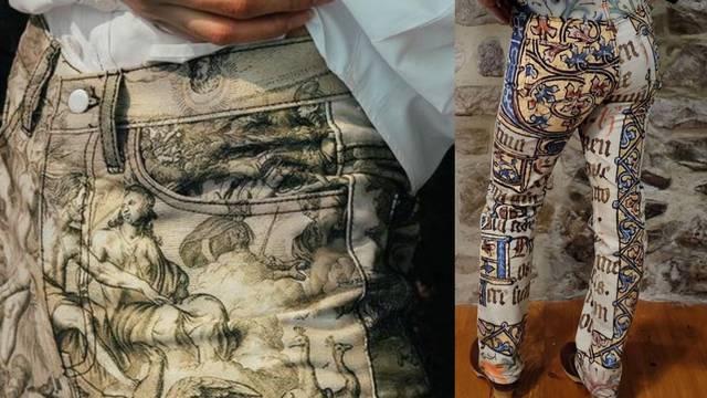 Dizajnerski dvojac radi print na hlačama inspiriran slikama iz doba baroka i srednjeg vijeka