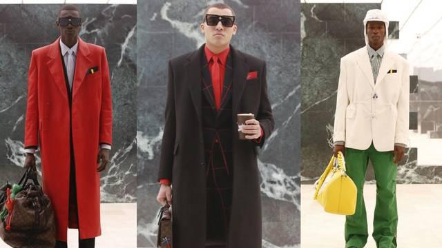 Louis Vuitton predlaže tailoring u crvenoj, srebrnoj i zelenoj boji