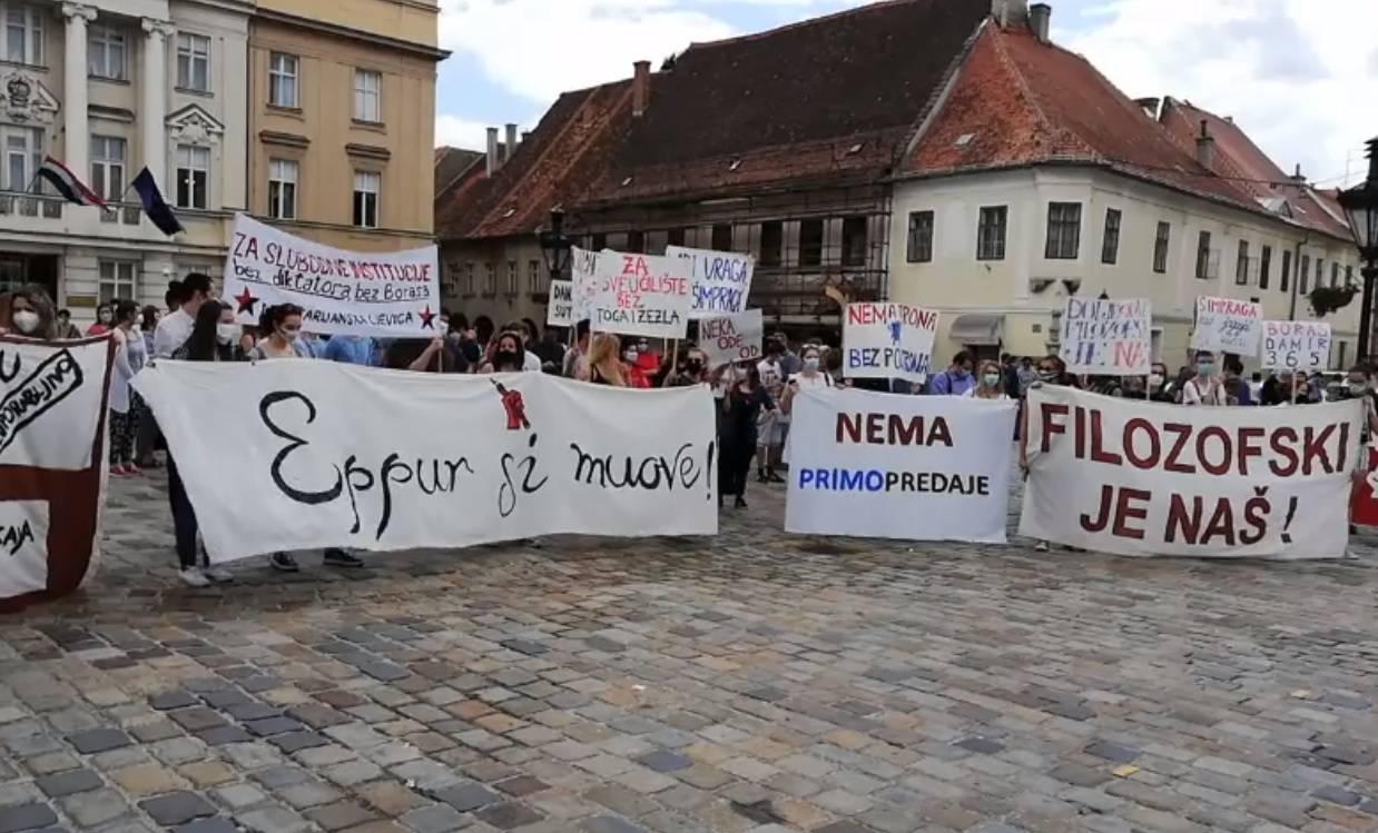 Sindikati: Pozivanje na autonomiju Sveučilišta pokriće za Borasovu samovolju