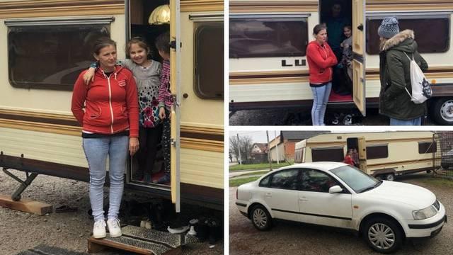 Obitelji iz auta stiže kontejner pa su kamp kućicu poklonili: 'Znam da je i drugima teško'