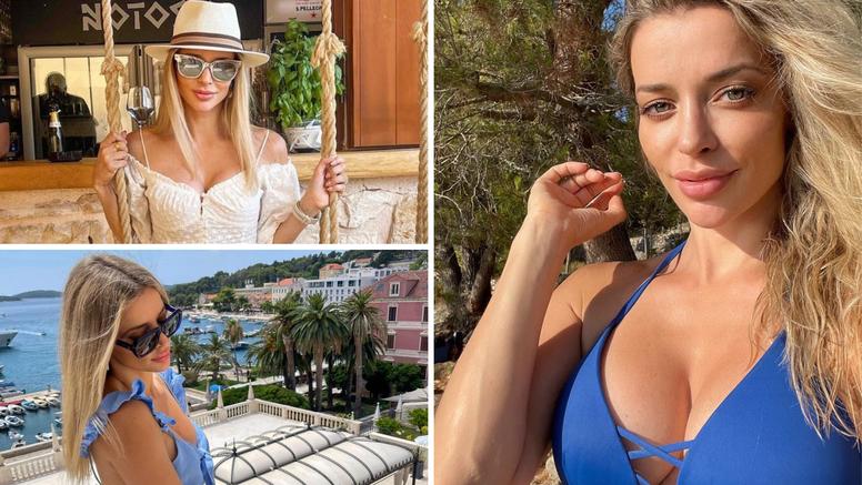 Fani Stipković stigla na odmor u Hrvatsku: U plavom bikiniju na plaži pokazala svoje bujne grudi
