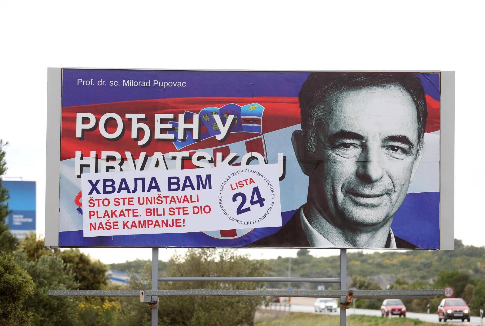 Šibenik: Pupovac zahvalio onima koji su uništavali plakate
