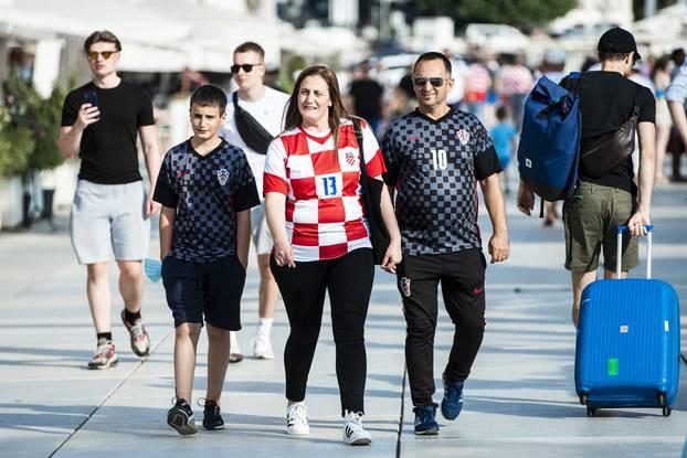 Hrvatski navijači uoči večerašnje utakmice protiv Slovenije