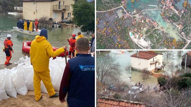 Poplava prijeti kod Vrgorca: Brojne kuće potpuno odsječene