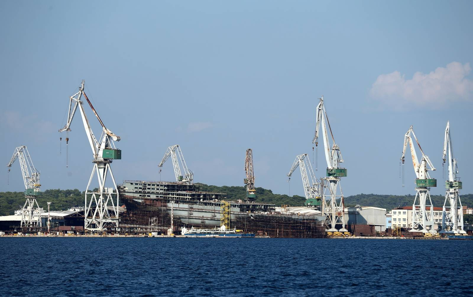 FILE PHOTO: Part of Uljanik shipyard is seen in Pula