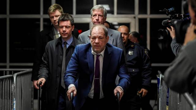 Film producer Harvey Weinstein departs his sexual assault trial at New York Criminal Court