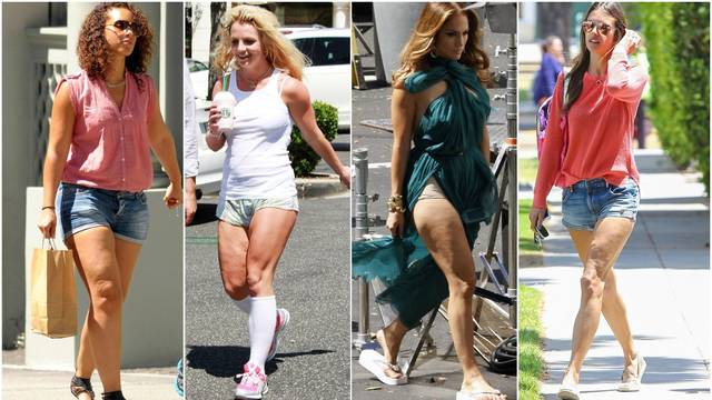 J.Lo, Britney i Kim su pokazale svoje noge u kratkim hlačicama