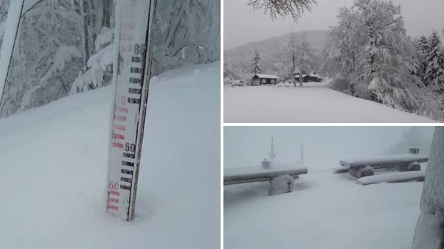 Na Velebitu je palo pola metra snijega, a Hvar pogodila tuča...