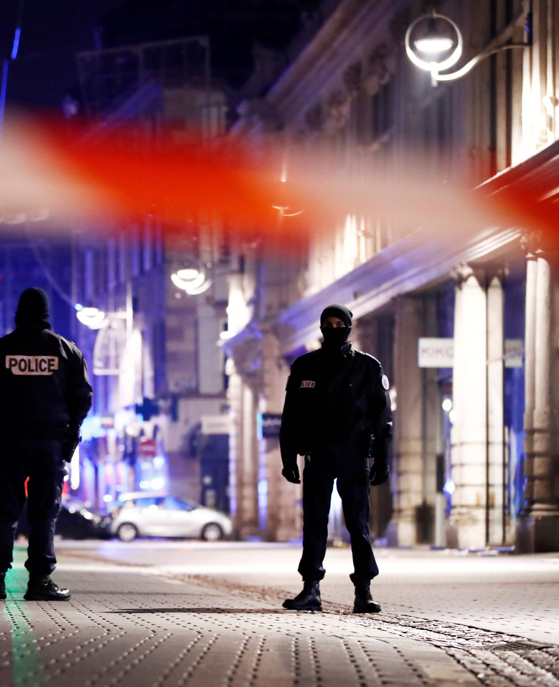 Police secure area where a suspect is sought after a shooting in Strasbourg