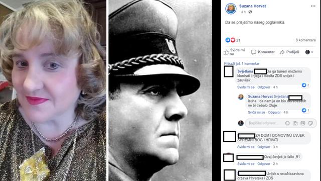 HDZ-ovka na Fejsu objavila sliku Ante Pavelića: 'Da se prisjetimo našeg poglavnika'