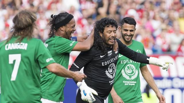 Last match of Atletico de Madrid at Vicente Calderon Stadium