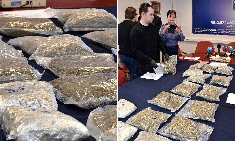 U Hondi srpskih tablica kod S. Broda našli 8,8 kila marihuane