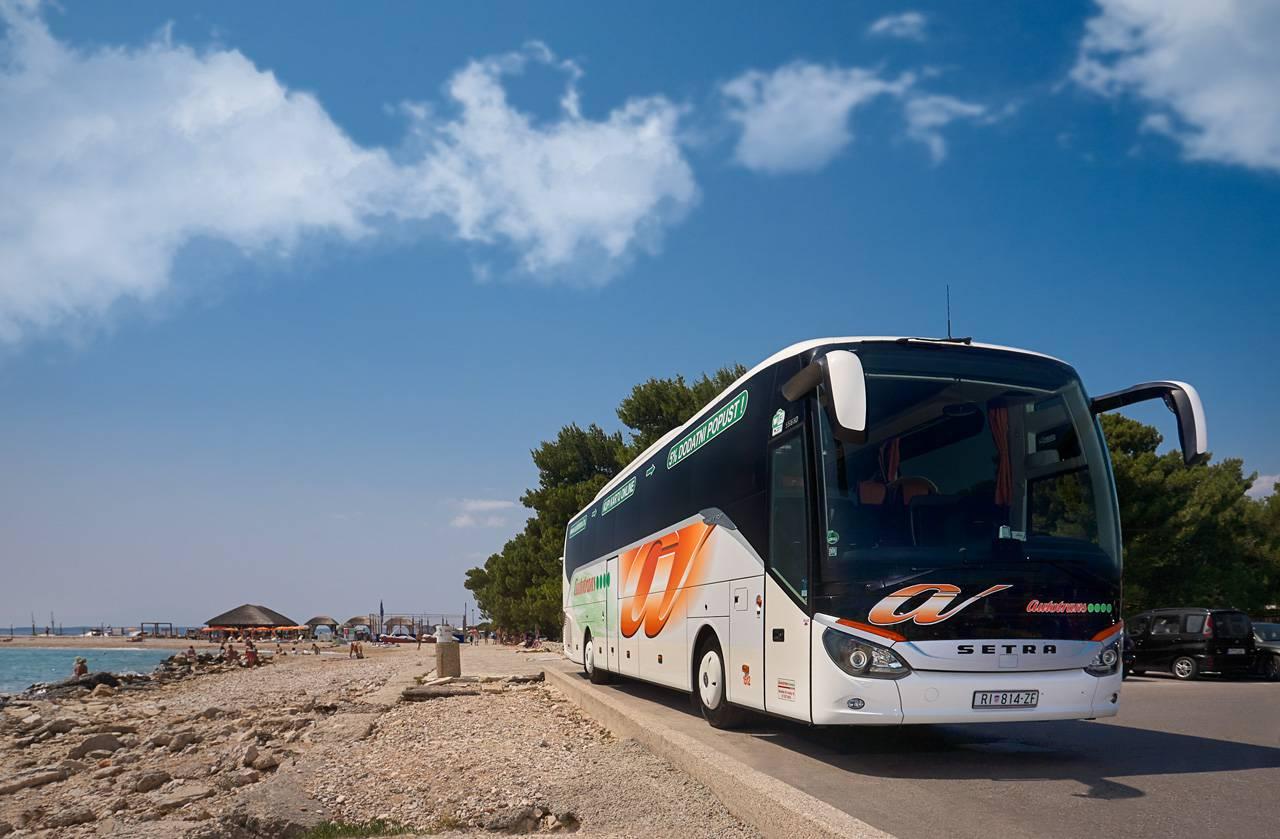 Autotransov autobus na Kvarnerskoj rivijeri
