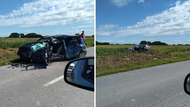 U frontalnom sudaru nedaleko Đakova ozlijeđeno dvoje ljudi: 'Auto je završio 20 m od asfalta'