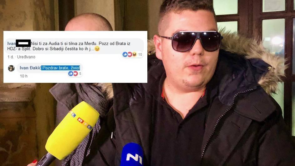 'Dobro si Srbadiji čestita, ko ih je**'; Ivan Đakić: 'Živio brate'