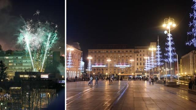 Doček Nove godine u Zagrebu prošao uz vatromet, ali bez uobičajenog slavlja na trgu