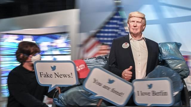 Wax figure of US President Donald Trump