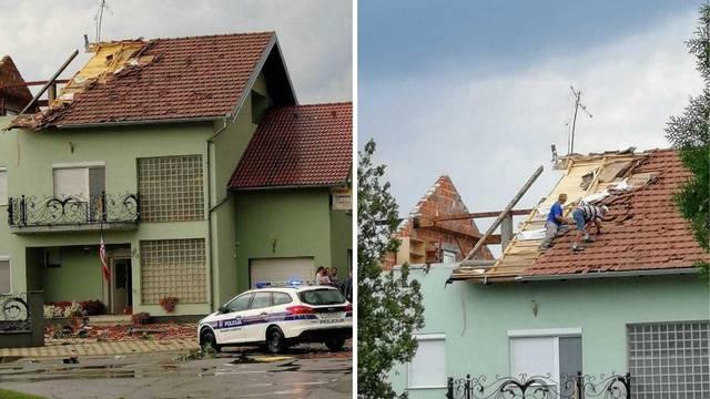 Slavonski Brod: Vjetar je odnio crijep s kuće i pao  ženi na glavu