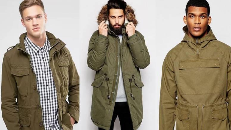 Muške 'army' jakne: Popularna boja masline za urbane frajere