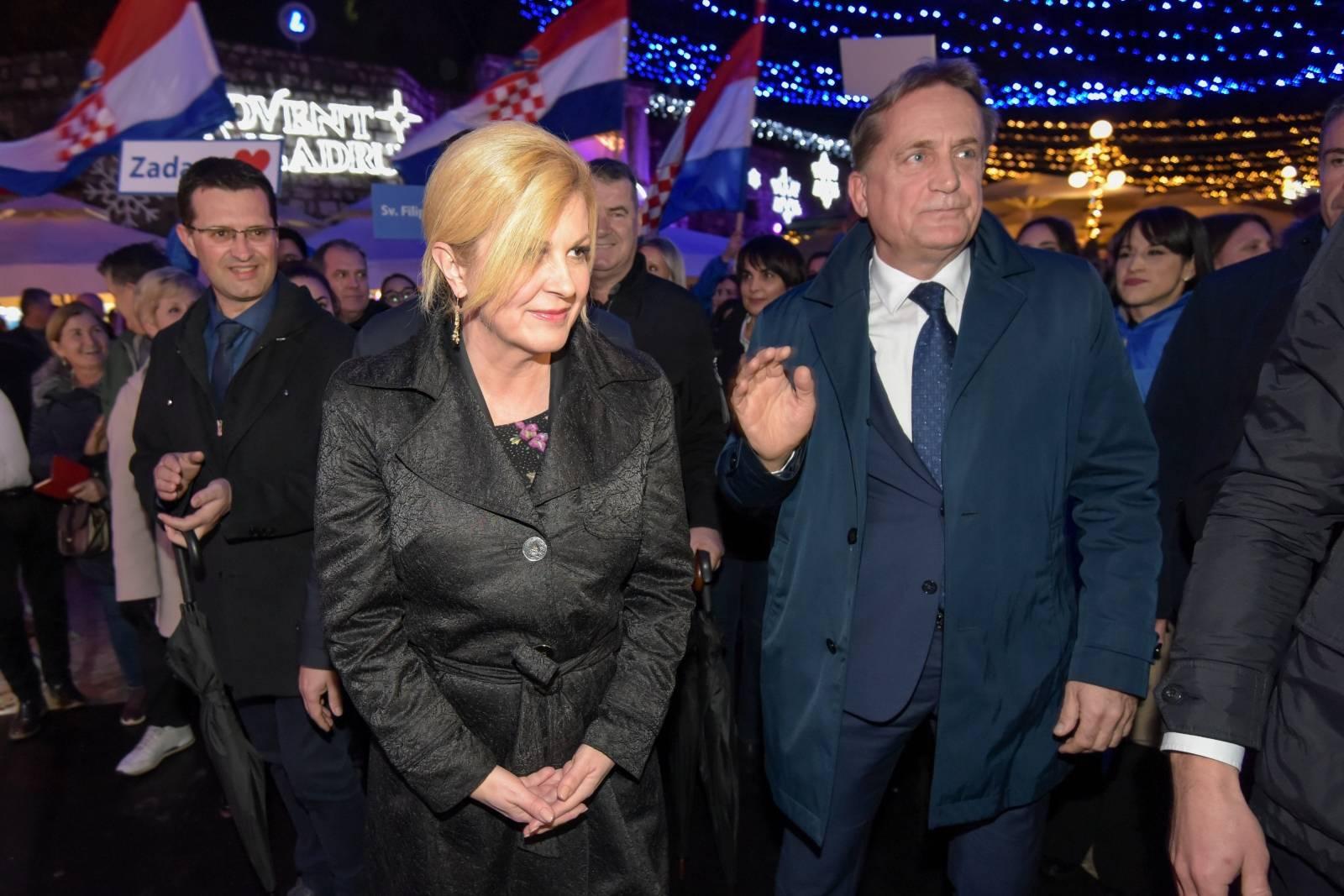 Zadar: Kolinda Grabar Kitarović posjetila je Advent i i crkvu sv. Šime
