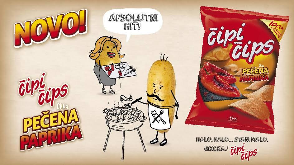 Novi Čipi čips s okusom pečene paprike osvojit će vaše nepce