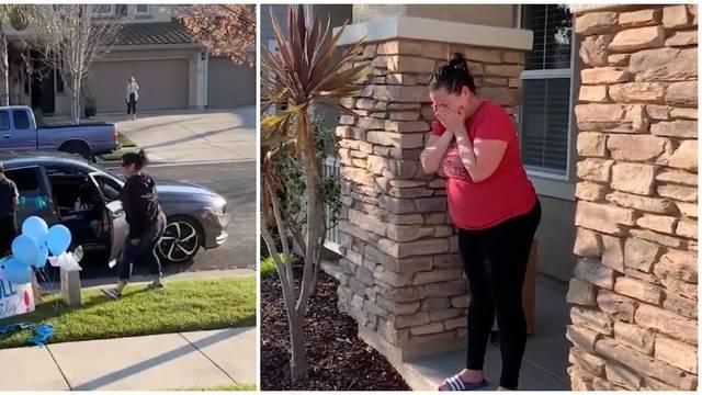 Rasplakali trudnicu: Prijatelji pred vratima ostavili poklone