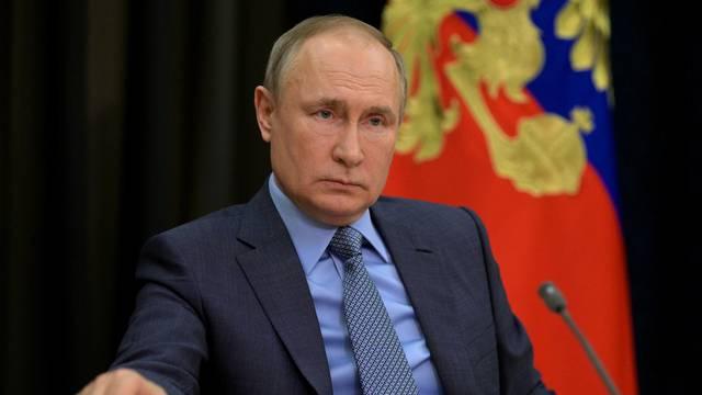 Russian President Vladimir Putin attends a meeting in Sochi