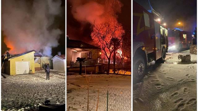 Grom udario u dimnjak i zapalio kuću, urušilo se cijelo krovište