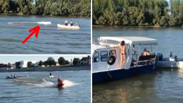 Dramatični video: Otac i sin su pali u Dunav, brod van kontrole