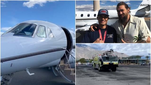 Jason Momoa: 'Zrakoplov nam se zapalio, prisilno smo sletjeli'