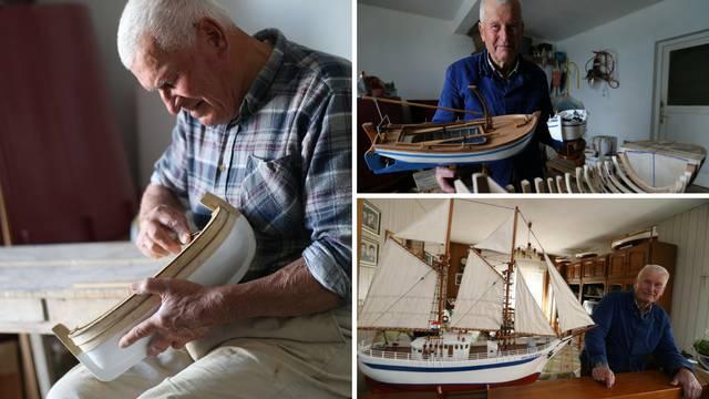 Tomislav Nakir (90) rukama gradi svoju flotu malih brodova