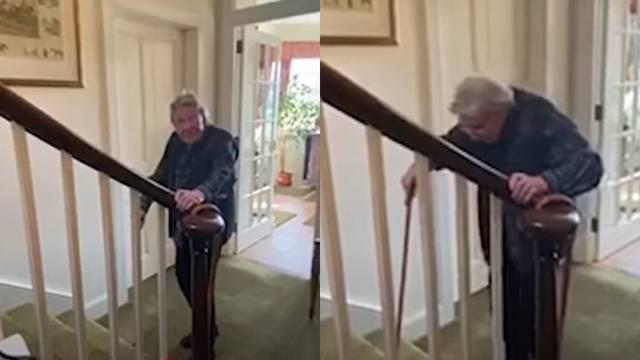 Baka (90) se penje po svom stubištu u dobrotvorne svrhe