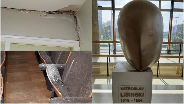 Lisinski se nakrivio: 'Stubište, strop i statua pretrpjeli štetu'